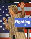 Hillary Clinton Campaigns for Presidency at SW College Los Angel Royalty Free Stock Image