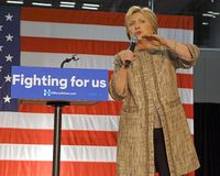 Hillary Clinton Campaigns for Presidency at SW College Los Angel Stock Photos