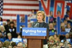 Hillary Clinton Campaigns in St. Louis, Missouri, USA stock photo
