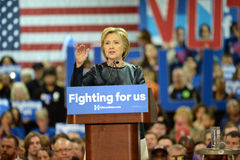 Hillary Clinton Campaigns in St. Louis, Missouri, USA royalty free stock photography