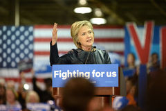 Hillary Clinton Campaigns in St. Louis, Missouri, USA. Saint Louis, MO, USA – March 12, 2016: Democratic presidential candidate and former Secretary of royalty free stock photo