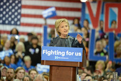 Hillary Clinton Campaigns in St. Louis, Missouri, USA stock images