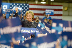 Hillary Clinton Campaigns in St. Louis, Missouri, USA Royalty Free Stock Photo