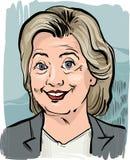 Hillary Clinton caricature portrait Royalty Free Stock Photo