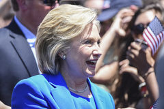 Hillary Clinton com suportes Fotografia de Stock