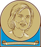 Hillary Clinton 2016 Democrat Candidate Stock Photo
