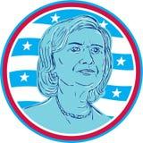 Hillary Clinton Democrat President Candidate Fotografia de Stock