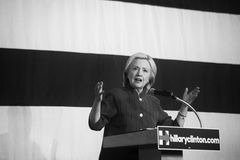 Hillary Clinton. Des Moines, Iowa, USA - June 14, 2015: Democratic candidate for President Hillary Clinton speaks to a group of over 700 supporters at the Iowa stock image