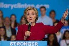 Hillary Clinton em uma reunião de 2016 campanhas Fotografia de Stock Royalty Free