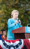 Hillary Clinton fala em Manchester, New Hampshire Fotos de Stock Royalty Free