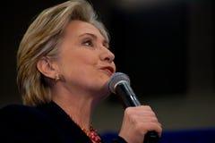 Hillary Clinton giving speech at TSU, Nashville royalty free stock photos