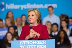 Hillary Clinton at Harrisburg Rally Stock Photos
