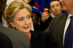 Hillary Clinton komt en begroet bij TSU, Nashville samen Stock Afbeelding