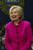 Hillary Clinton Laughing Pink Jacket. Hillary Clinton, December 8, 2015 in Salem New Hamphsire royalty free stock photography