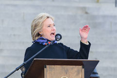 Hillary Clinton - MLKDAY Rally. January 18, 2015 - Columbia S.C: Hillary Clinton(D), speaks about iconic African American women at the MLK Day presidential rally stock photo