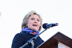 Hillary Clinton - MLKDAY Rally. January 18, 2015 - Columbia S.C: Hillary Clinton(D), speaks about iconic African American women at the MLK Day presidential rally royalty free stock photography