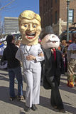 Hillary Clinton and the Monopoly Man in the Mardi Gras Parade Royalty Free Stock Photography