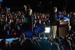 Hillary Clinton och Tim Kaine Campaigning Arkivfoto