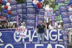 Hillary Clinton para los partidarios del presidente Imagenes de archivo