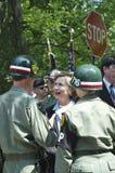 Hillary Clinton parla con i membri dei militari Immagine Stock Libera da Diritti