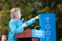 Hillary Clinton parle à Manchester, New Hampshire Images libres de droits