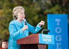 Hillary Clinton parle à Manchester, New Hampshire Photographie stock libre de droits
