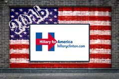 Hillary Clinton per presidente Fotografia Stock Libera da Diritti