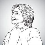 Hillary Clinton Portrait Drawing Ilustração do vetor 17 de novembro de 2017 ilustração stock