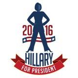 Hillary Clinton pour le président Photos stock