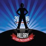 Hillary Clinton for President burst background Royalty Free Stock Photo