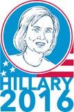Hillary Clinton President 2016 Wahlen Lizenzfreie Stockfotografie