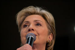 Hillary Clinton pronunciar discurso en TSU, Nashville fotografía de archivo libre de regalías
