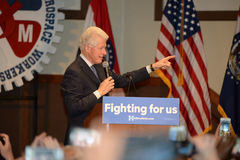 Hillary Clinton Rally in Bridgeton. Bridgeton, MO, USA – March 08, 2016: Former president Bill Clinton speaks to supporters of wife and presidential democratic Stock Photography