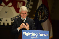 Hillary Clinton Rally in Bridgeton. Bridgeton, MO, USA – March 08, 2016: Former president Bill Clinton speaks to supporters of wife and presidential democratic Stock Image