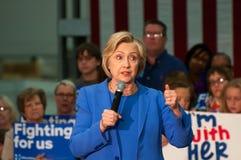 Hillary Clinton rally stock photography