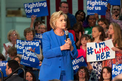 Hillary Clinton rally. Louisville, Kentucky – May 15, 2016: Former Secretary of State Hillary Clinton campaigns to a crowd at a rally in Louisville, Kentucky Royalty Free Stock Photos