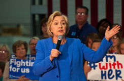 Hillary Clinton rally. Louisville, Kentucky – May 15, 2016: Former Secretary of State Hillary Clinton campaigns to a crowd at a rally in Louisville royalty free stock image