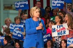 Hillary Clinton rally Royalty Free Stock Photos