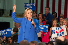 Hillary Clinton rally Stock Photo