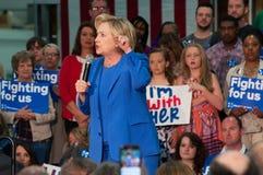 Hillary Clinton rally Royalty Free Stock Image