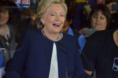 Hillary Clinton som delta i en kampanj i den stora korridoren Heinz Field Pittsb Fotografering för Bildbyråer