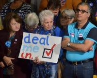 Hillary Clinton som delta i en kampanj i den stora korridoren Heinz Field Pittsb Arkivfoton