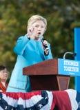 Hillary Clinton spreekt in Manchester, New Hampshire Royalty-vrije Stock Foto's