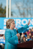 Hillary Clinton spreekt in Manchester, New Hampshire Stock Foto's