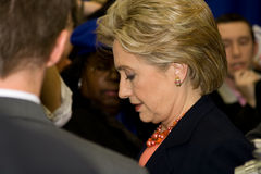 Hillary Clinton-Treffen und grüßen an TSU, Nashville lizenzfreie stockfotografie