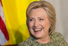 Hillary Clinton at UN General Assembly in New York Stock Image