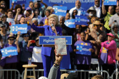 Hillary Clinton, Verkiezing, 2016 Presidentiële Verenigde Staten verkiest Stock Fotografie