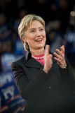 Hillary Clinton - Vertical Clapping 3. 03/11/08 - Philadelphia, PA - Hillary Clinton - Presidential Hopeful, Senator Hillary Rodham Clinton (D-NY), speaks to a stock image