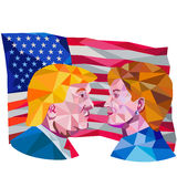 Hillary Clinton Vs Donald Trump Low Polygon Royalty Free Stock Photography