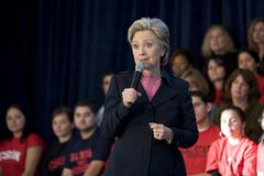 Hillary clinton, wiec Obrazy Royalty Free